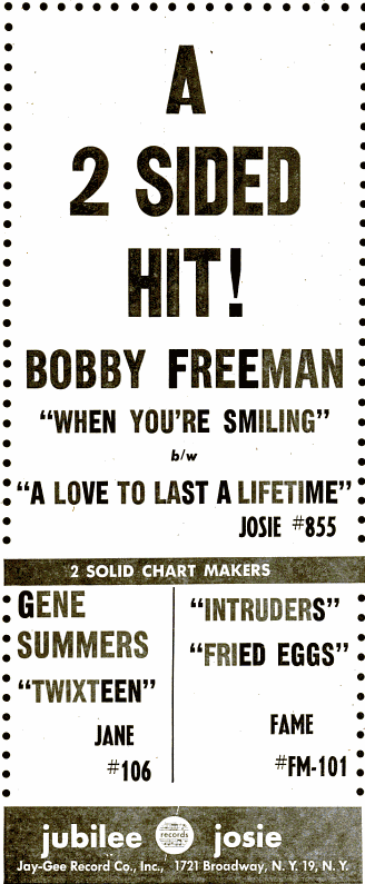 Bobby Freemann - jubilee records - 1959-02-02.png