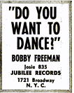 Bobby Freeman - Jubilee records - 1958-05-12.png