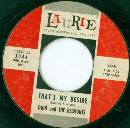 DION & THE BELMONTS - That's my desire -B1-.jpg
