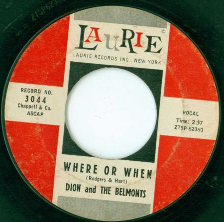 DION & THE BELMONTS - Where or when -A1-.jpg