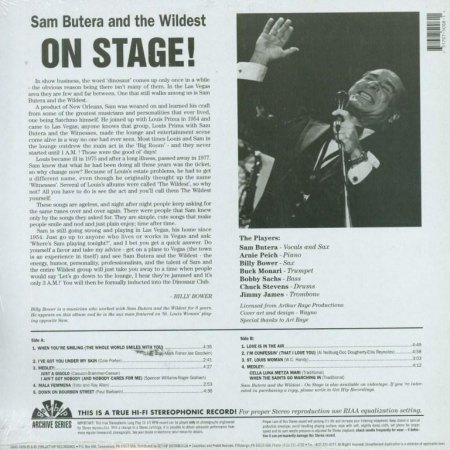 SAM BUTERA-LP - On Stage - CV RS -.JPG
