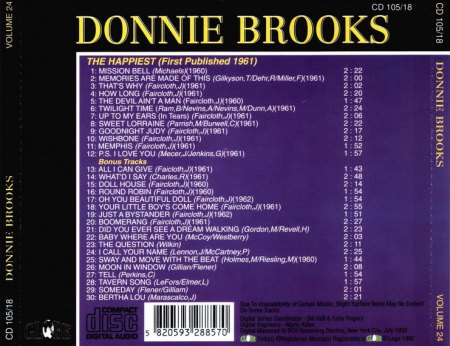 Donnie Brooks - The Happiest-Back_Bildgröße ändern.Jpg