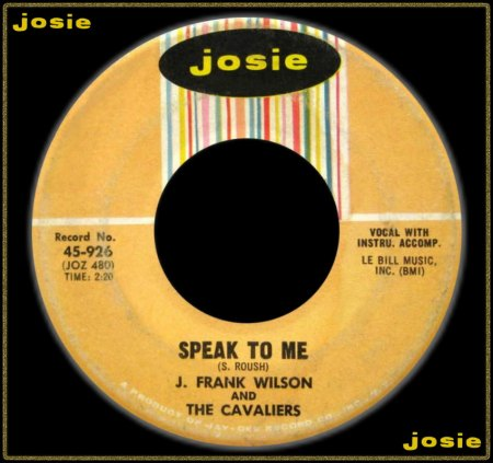J. FRANK WILSON & THE CAVALIERS - SPEAK TO ME_IC#002.jpg