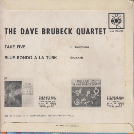 DAVE BRUBECK QUARTET - Take Five -F- CV RS -.jpg