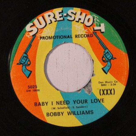 BOBBY WILLIAMS - Baby I need your love -A-.JPG