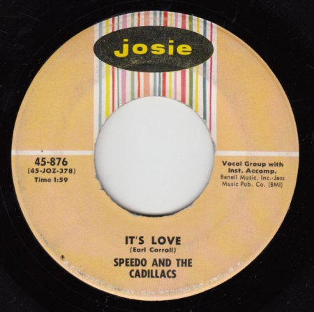 SPEEDO & THE CADILLACS - It's love.JPG