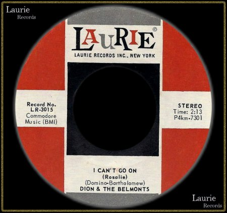 DION & THE BELMONTS - I CAN'T GO ON (ROSALIE)_IC#003.jpg