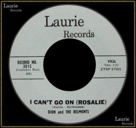 DION & THE BELMONTS - I CAN'T GO ON (ROSALIE)_IC#002.jpg