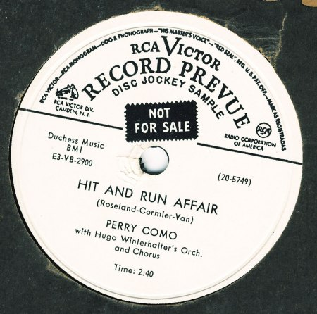 Brandes,Will10Perry Como Hit and run affair RCA Vict 20-5749.JPG