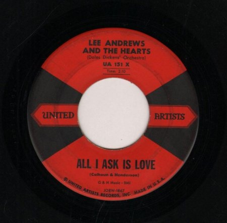 LEE ANDREWS & THE HEARTS - All I ask is love -A-.JPG