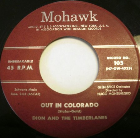 DION & THE TIMBERLANES - Out in Colorado -B-.JPG