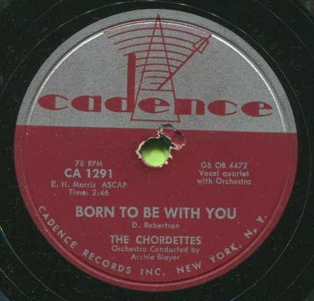 CHORDETTES - Born to be with you -B-.JPG