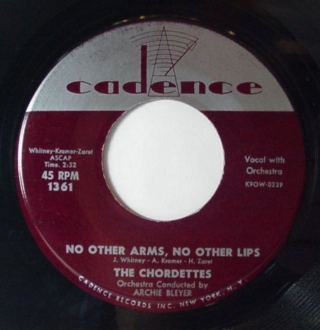 CHORDETTES - No other arms, no other lips -A-.JPG