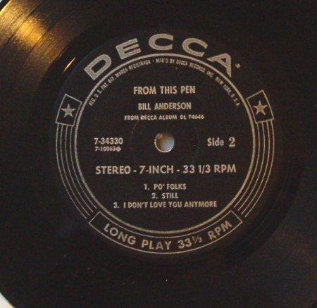 Anderson, Bill - From This Pen(Decca) 1965.jpeg
