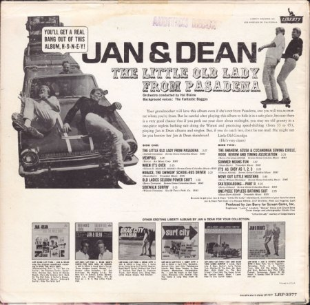 Jan & Dean - Little old lady from Pasadena - US LP (2).jpg