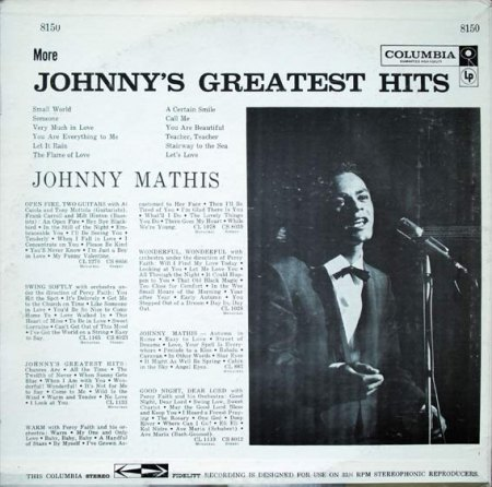 Mathis, Johnny - More Johnny's greatest Hits.jpg