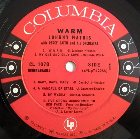 Mathis, Johnny - Warm - Columbia LP  (4).jpg