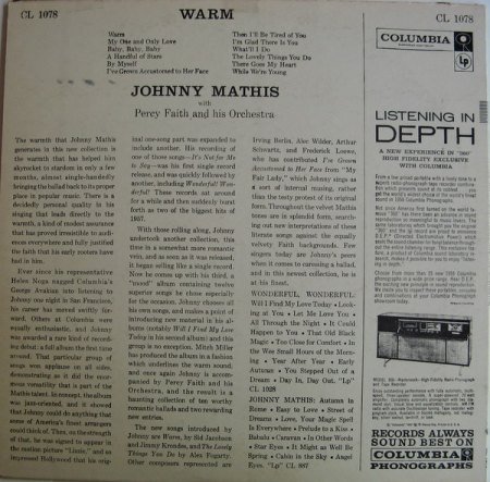 Mathis, Johnny - Warm - Columbia LP  (3).jpg