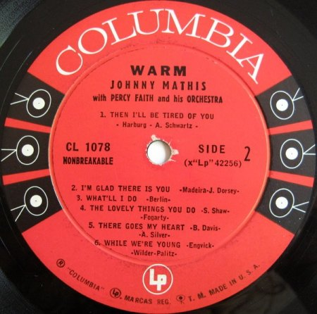 Mathis, Johnny - Warm - Columbia LP .jpg