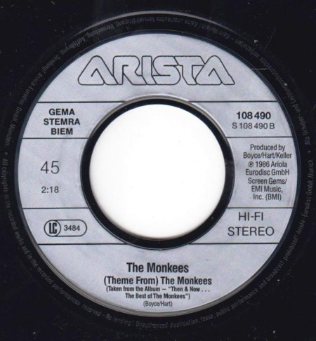 MONKEES - (Theme from) The Monkees -B-.jpg