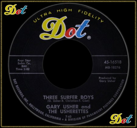 GARY USHER & THE USHERETTES - THREE SURFER BOYS_IC#002.jpg