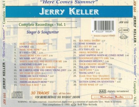 Jerry Keller - Vol. 1 - Here Comes Summer - Back.jpg