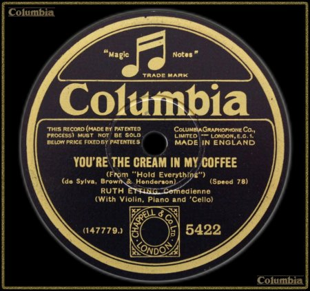 RUTH ETTING - YOU'RE THE CREAM IN MY COFFEE_IC#003.jpg
