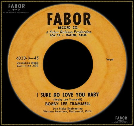 BOBBY LEE TRAMMELL - I SURE DO LOVE YOU BABY_IC#002.jpg