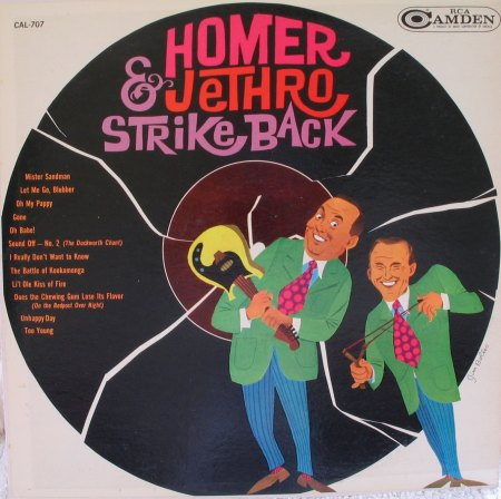 Homer & Jethro - Strike Back - rca 707 1.JPG