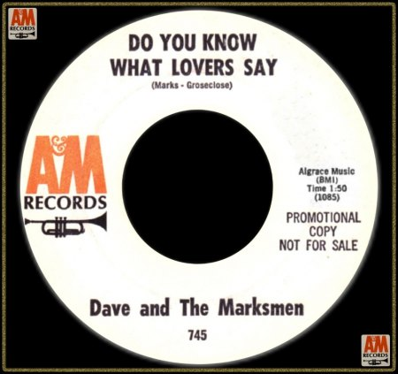 DAVID MARKS & THE MARKSMEN - DO YOU KNOW WHAT LOVERS SAY_IC#002.jpg