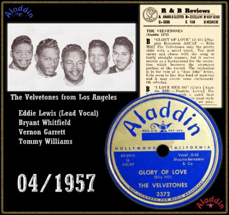 VELVETONES (LOS ANGELES) - GLORY OF LOVE_IC#001.jpg