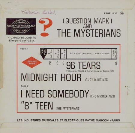 Question Mark & the Mysterians - 96 tears EP (3).jpg