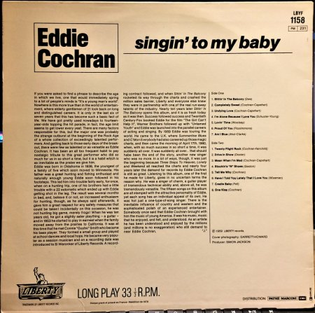 Eddie Cochran France Liberty LP