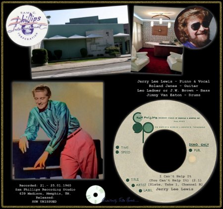 JERRY LEE LEWIS - I CAN'T HELP IT (YOU CAN'T HELP IT) (2.1) [SLATE & TAKE 1 CHANNEL B]