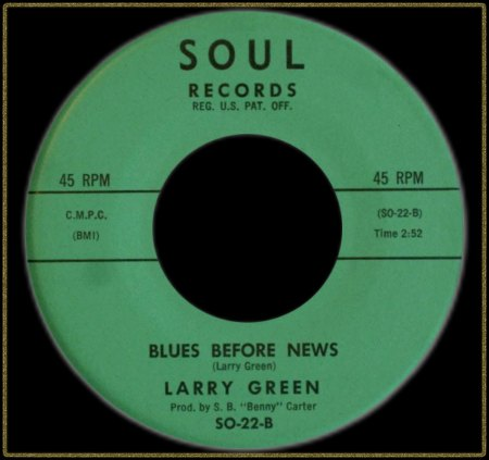LARRY GREEN - BLUES BEFORE NEWS
