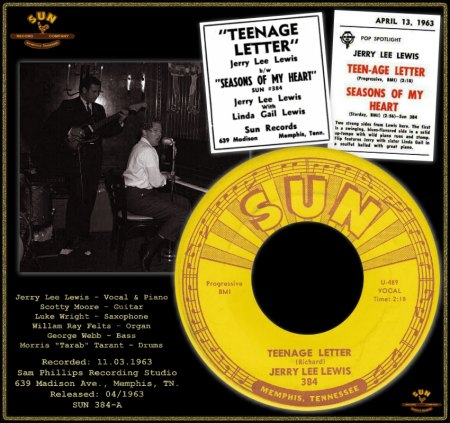 JERRY LEE LEWIS  - TEENAGE LETTER [MASTER TAKE 2]