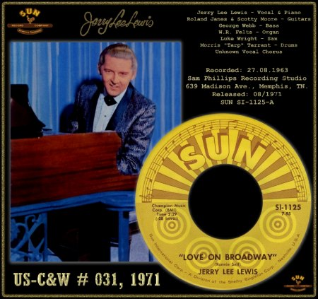 JERRY LEE LEWIS - LOVE ON BROADWAY