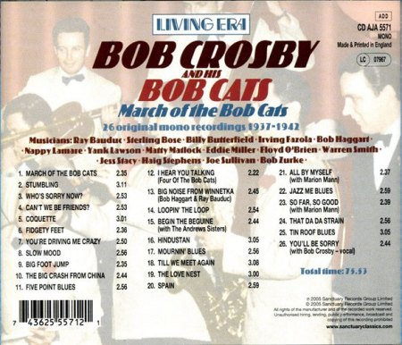 Bob CROSBY And The Bob Cats