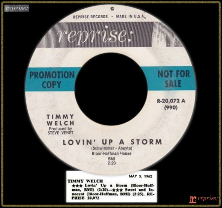 TIMMY WELCH - LOVIN' UP A STORM