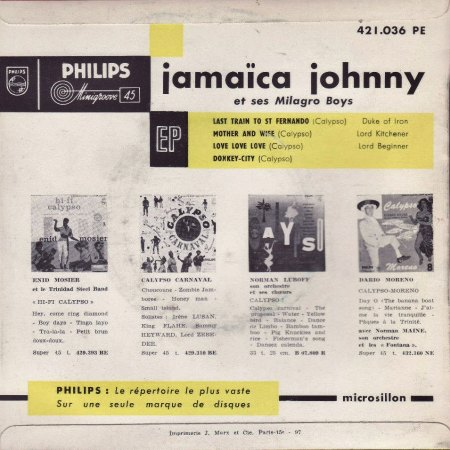 JAMAICA JOHNNY and his Milagro Boys