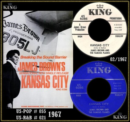 JAMES BROWN & THE FAMOUS FLAMES - KANSAS CITY