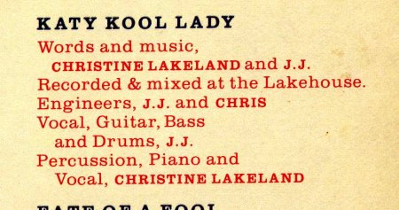 JJ CALE & CHRISTINE LAKELAND - WORDS & MUSIC