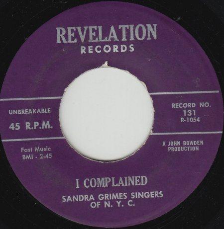 SANDRA GRIMMS - Hallelujah Rock And Roll