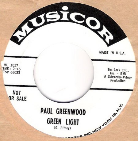 Green--Pitney - Paul Greenwood - Green light .jpg
