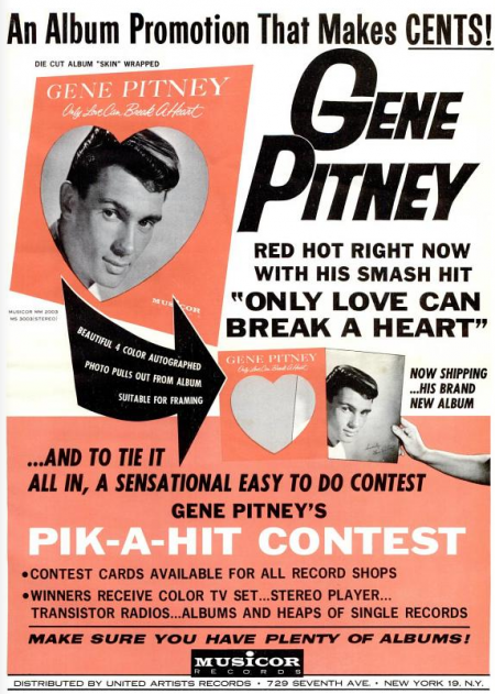 Gene Pitney - Musicor records - 1962-10-20.png