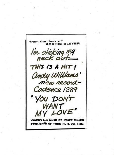 Andy Williams - Cadence records - 1960-10-24.png