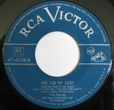 Warren,Fran02RCA Victor 47-4028 One For My Baby.jpg