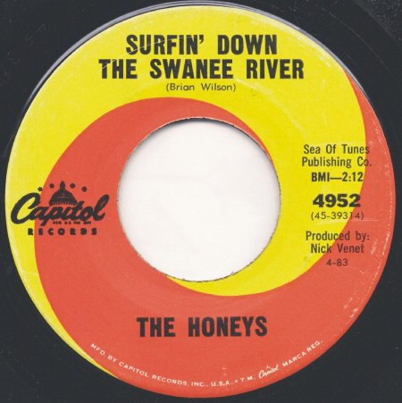 Honeys01Surfin Down The Swanee River Capitol 4952.jpg