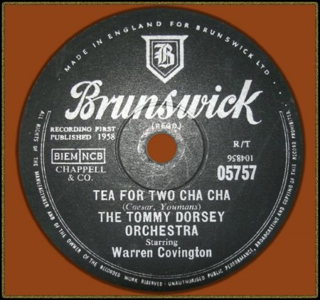 TOMMY DORSEY FEAT. WARREN COVINGTON - TEA FOR TWO CHA CHA_IC#003.jpg