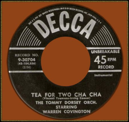 TOMMY DORSEY FEAT. WARREN COVINGTON - TEA FOR TWO CHA CHA_IC#002.jpg